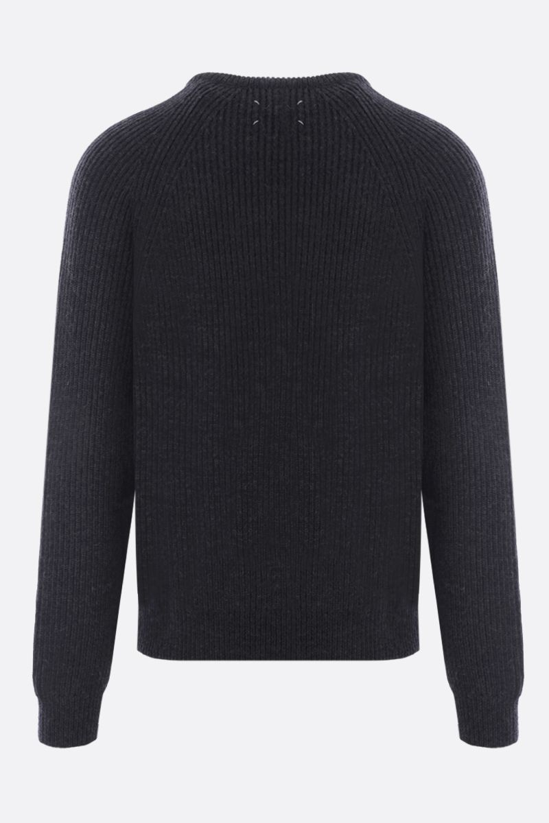 MAISON MARGIELA: ribbed wool pullover Color Black_2