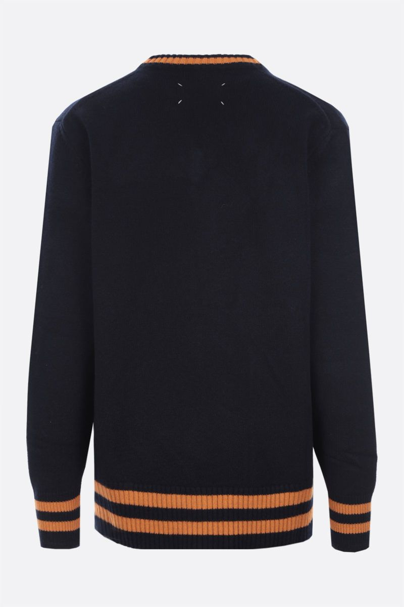 MAISON MARGIELA: striped wool pullover Color Blue_2