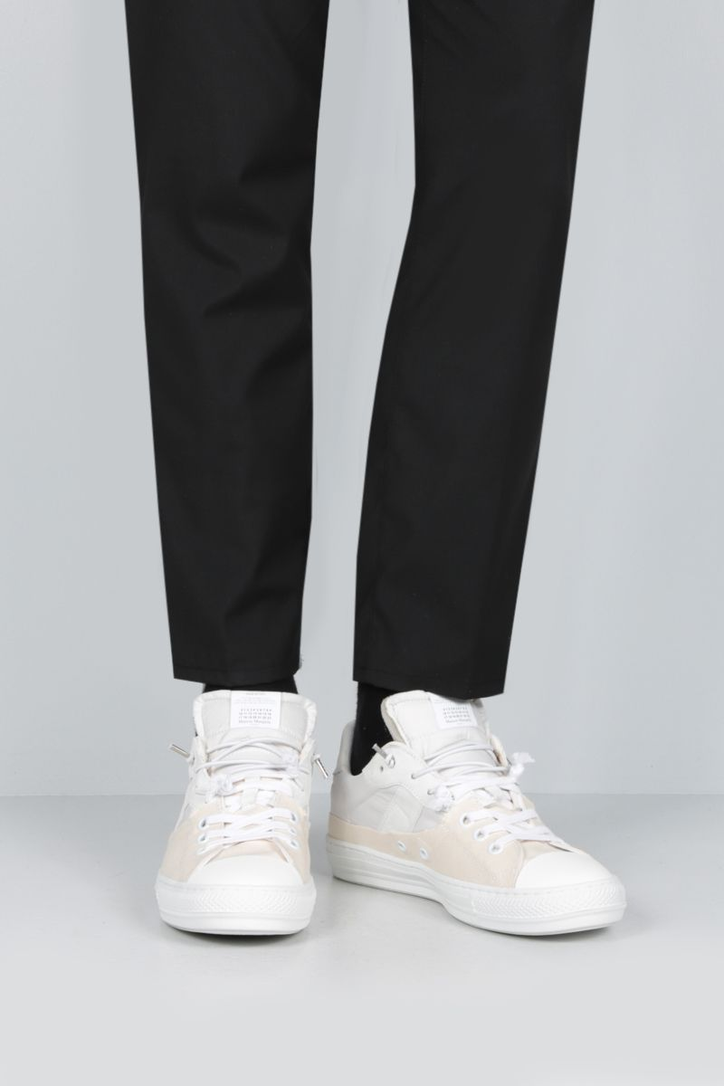 MAISON MARGIELA: Evolution sneakers in a mix of materials Color White_2