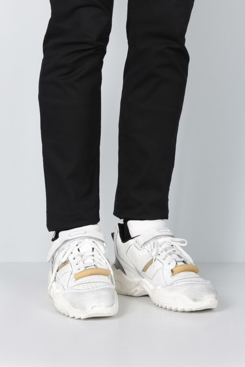 MAISON MARGIELA: Retro Fit sneakers in leather and sponge details Color Multicolor_2