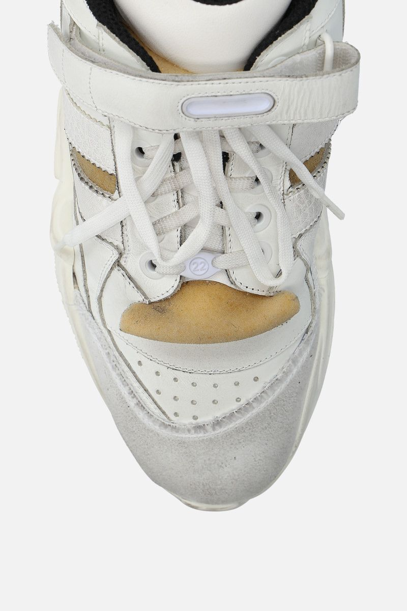 MAISON MARGIELA: Retro Fit sneakers in leather and sponge details Color White_5