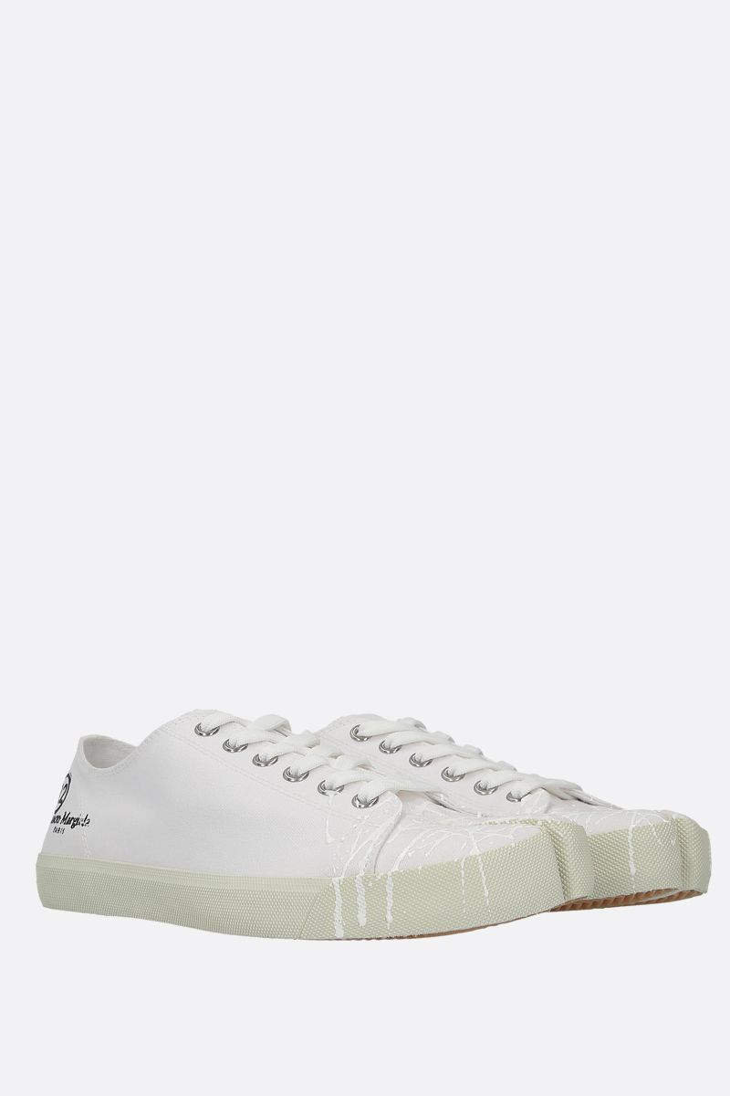 MAISON MARGIELA: Tabi canvas sneakers Color White_2