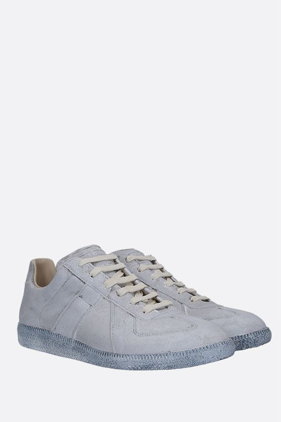 MAISON MARGIELA: Replica sneakers in used-effect suede Color White_2