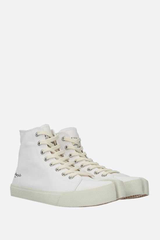 MAISON MARGIELA: Tabi canvas high-top sneakers Color White_2