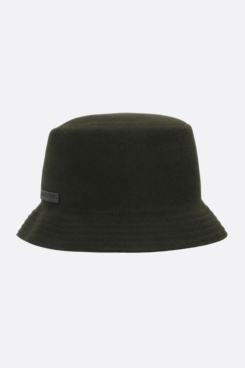 ERMENEGILDO ZEGNA: wool felt bucket hat Color Green_2