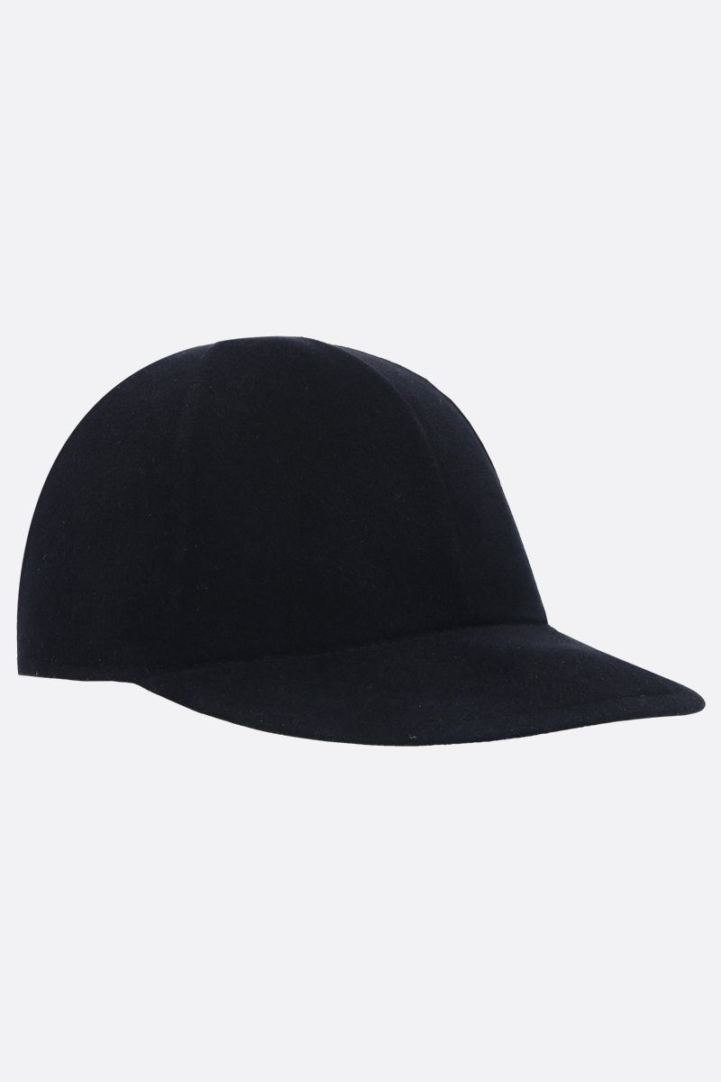 ERMENEGILDO ZEGNA: wool felt baseball cap Color Blue_2