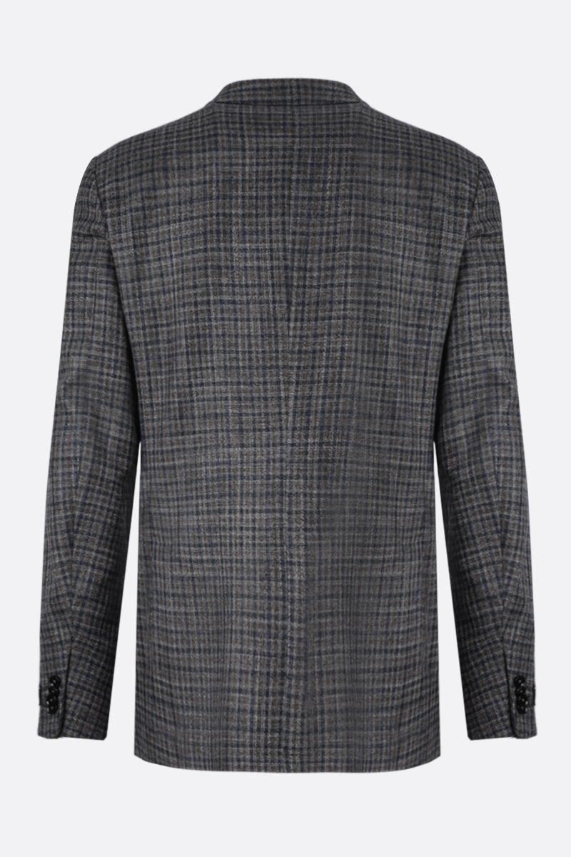 ERMENEGILDO ZEGNA: Siena wool silk linen blend single-breasted jacket Color Multicolor_2
