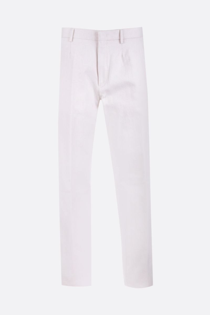 ERMENEGILDO ZEGNA: cotton regular-fit pants Color White_1