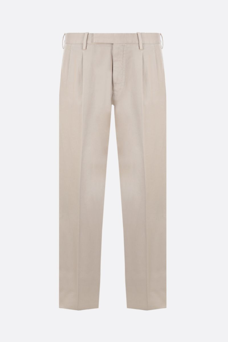 ERMENEGILDO ZEGNA: pantalone regular-fit in cotone stretch Colore Neutro_1