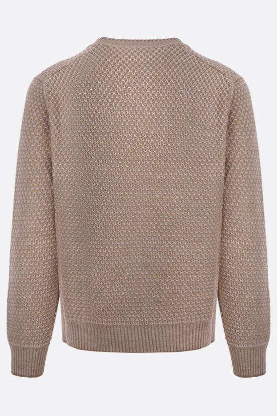 ERMENEGILDO ZEGNA: linen cotton blend pullover Color Brown_2