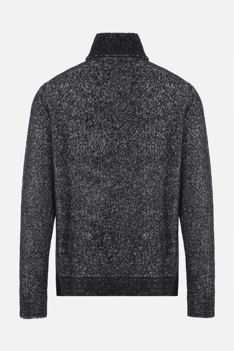 ERMENEGILDO ZEGNA: wool cashmere silk blend pullover Color Black_2