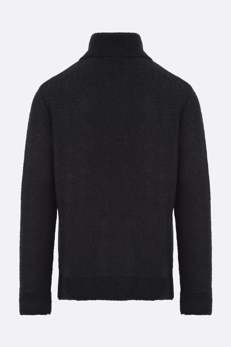 ERMENEGILDO ZEGNA: wool cashmere silk blend pullover Color Green_2