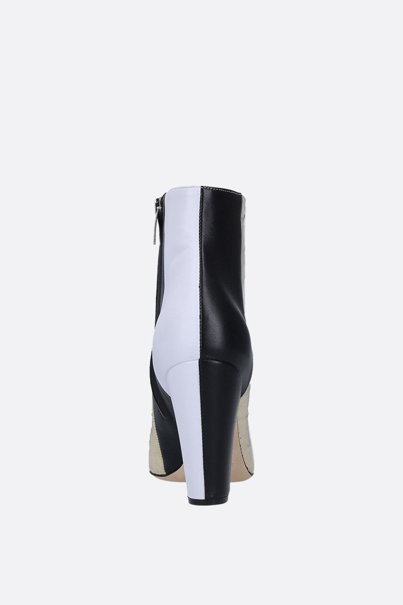 SERGIO ROSSI: Sergio ankle boots in patchwork leather Color White_4