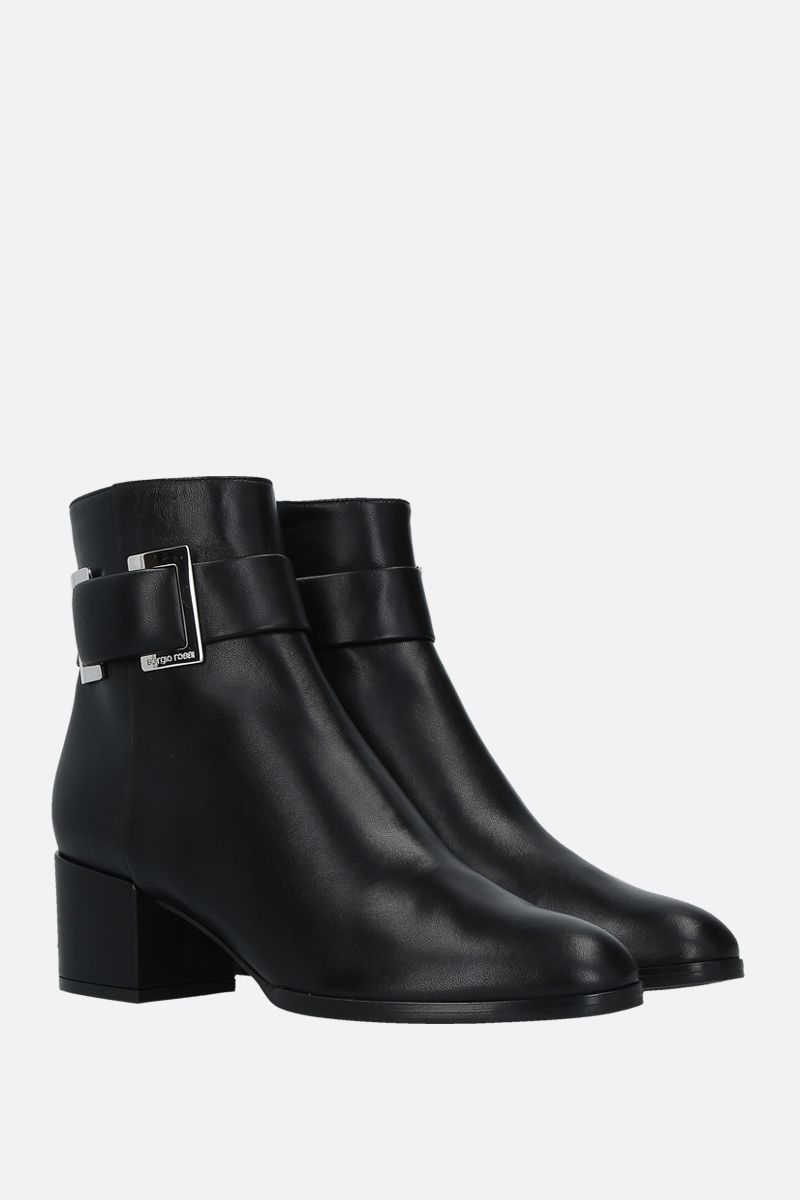 SERGIO ROSSI: SR Prince soft nappa booties Color Black_2