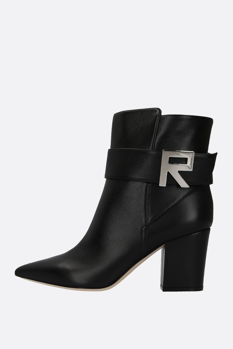 SERGIO ROSSI: Sergio Logomaniac ankle boots in nappa leather Color Black_2