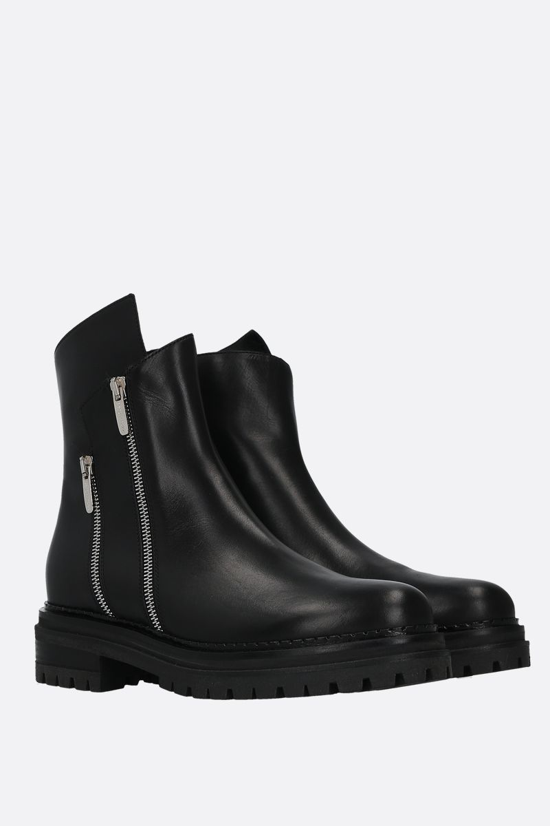 SERGIO ROSSI: Sergio Rider smooth leather ankle boots Color Black_2