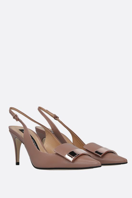 SERGIO ROSSI: sr1 nappa slingbacks Color Neutral_2