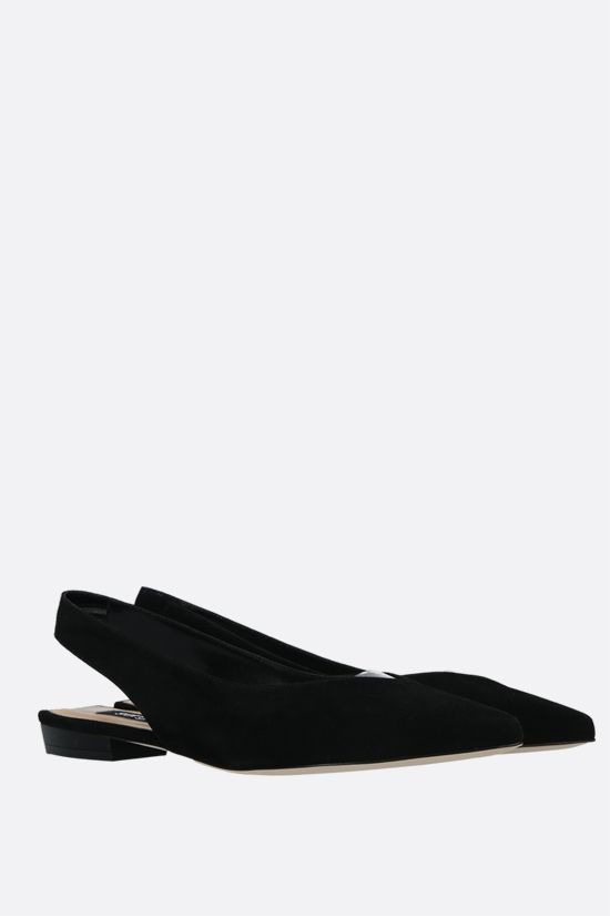 SERGIO ROSSI: SR Milano suede slingbacks Color Black_2