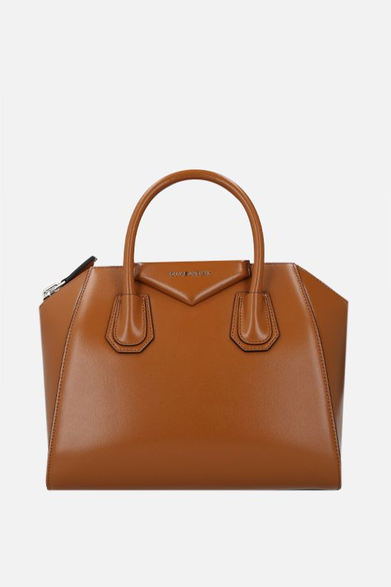 GIVENCHY: Antigona small shiny leather handbag Color Brown_1