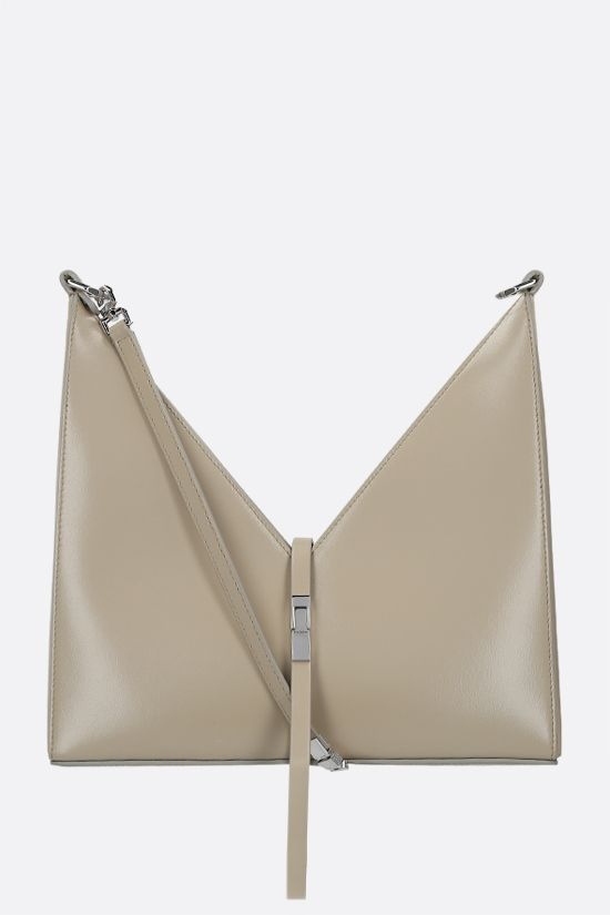 GIVENCHY: Cut Out small shiny leather shoulder bag Color Neutral_1