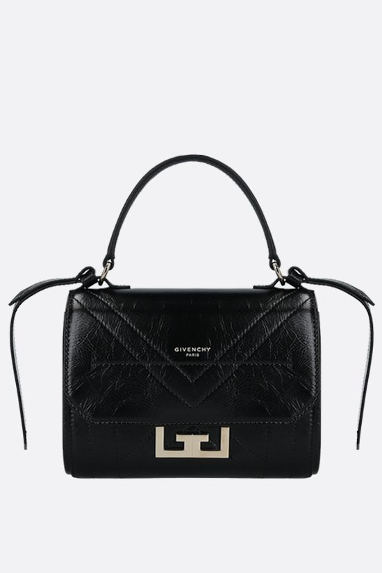 GIVENCHY: Eden mini handbag in Vintage leather Color Black_1