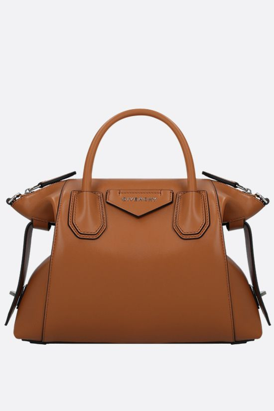 GIVENCHY: borsa a mano Antigona Soft small in pelle liscia Colore Marrone_1