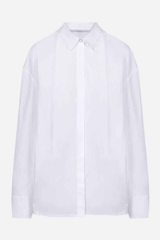 GIVENCHY: oversize cotton shirt with fold of fabric collar Color White_1