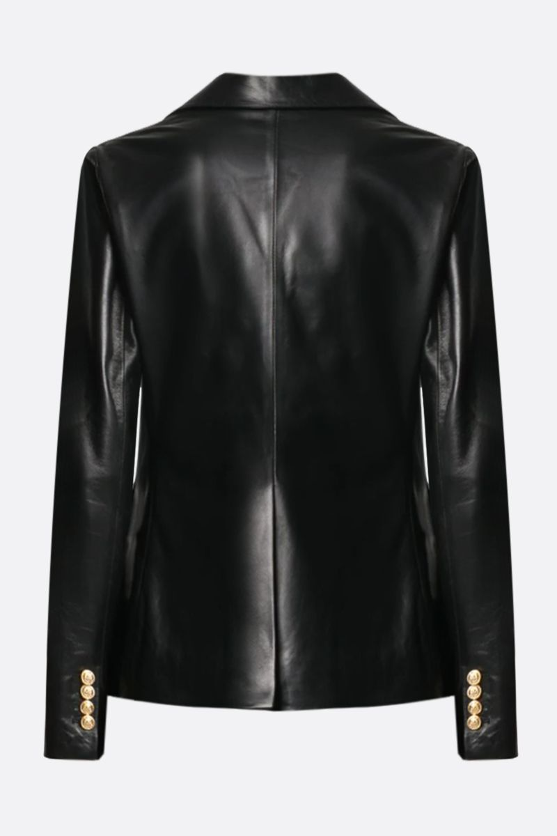 TAGLIATORE: Lizzie soft nappa double-breasted jacket Color Black_2