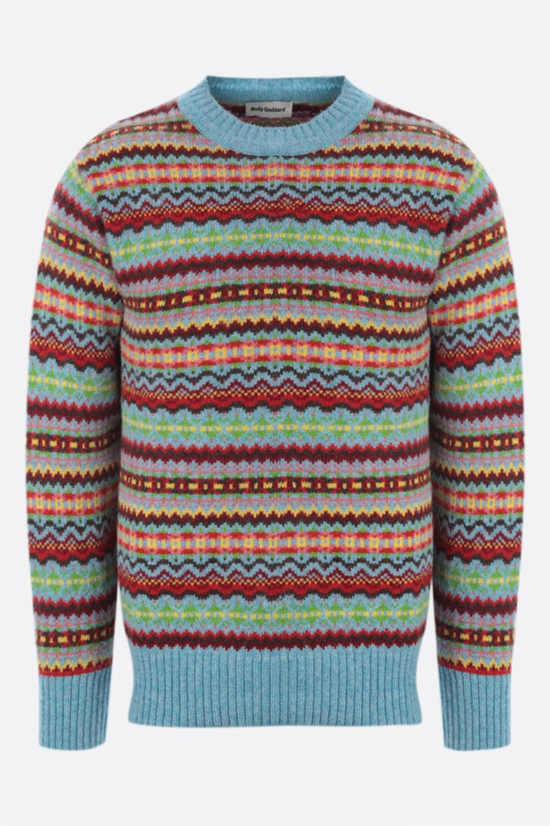 MOLLY GODDARD: Gene wool pullover with allover Fair Isle Color Multicolor_1