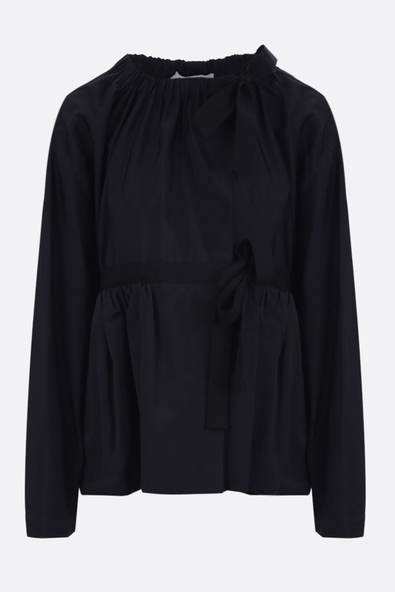MOLLY GODDARD: Ralph technical cotton overcoat Color Black_1