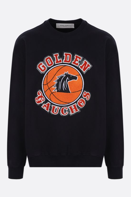 GOLDEN GOOSE DELUXE BRAND: Arsiero oversized cotton sweatshirt Color Blue_1