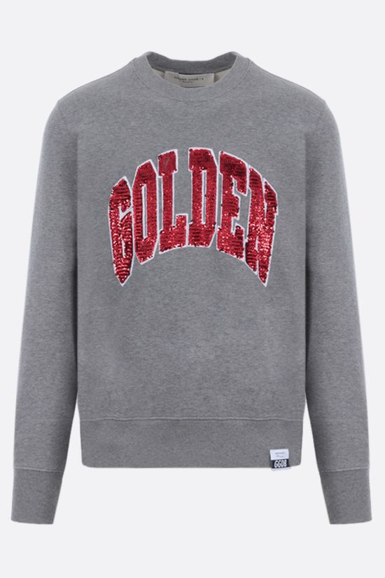 GOLDEN GOOSE DELUXE BRAND: Archibald cotton sweatshirt Color Grey_1