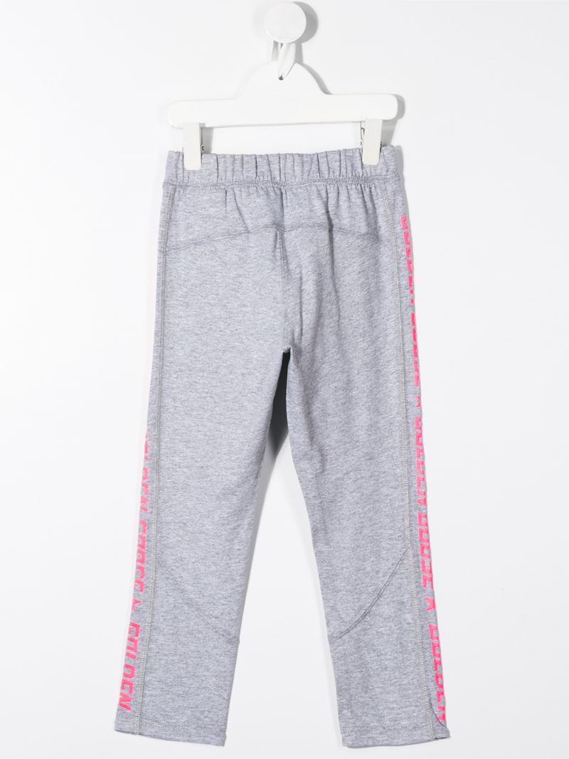GOLDEN GOOSE DELUXE BRAND KIDS: Pimrose cotton joggers Color Grey_2