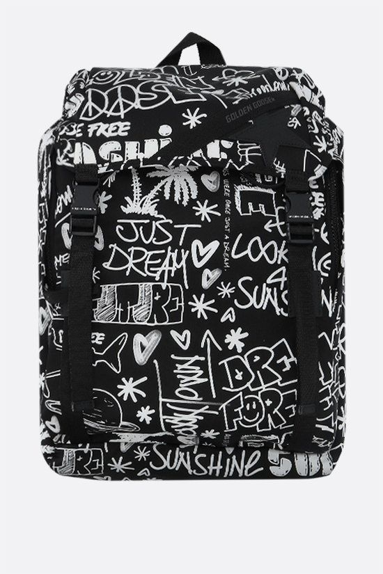 GOLDEN GOOSE DELUXE BRAND: Journey nylon backpack Color Black_1