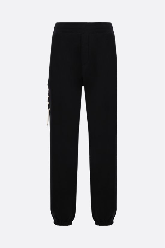 CRAIG GREEN: lace-embellished cotton joggers Color Black_1