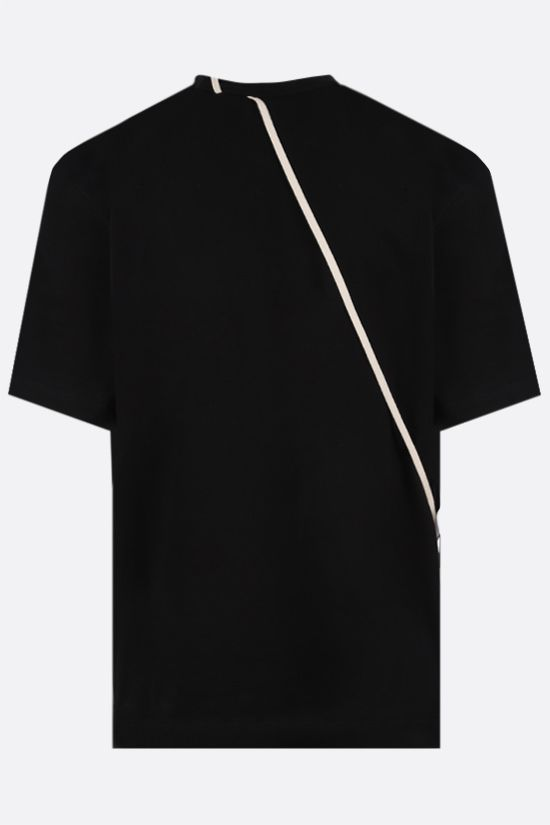 CRAIG GREEN: lace-embellished cotton t-shirt Color Black_2
