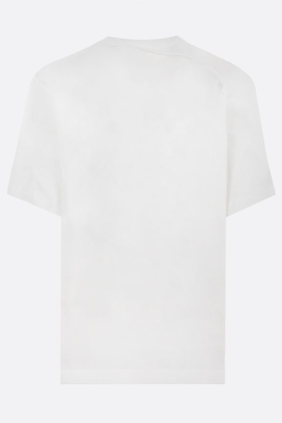CRAIG GREEN: lace-embellished cotton t-shirt Color White_2