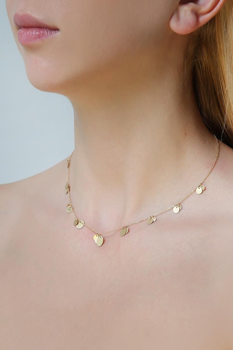 LIA DI GREGORIO: Forme gold necklace Color Gold_2