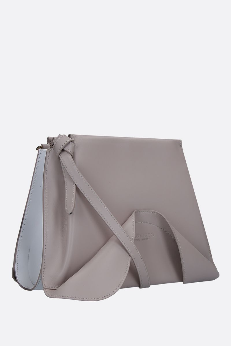 GIAQUINTO BAGS: Ashley crossbody bag in smooth leather Color White_2