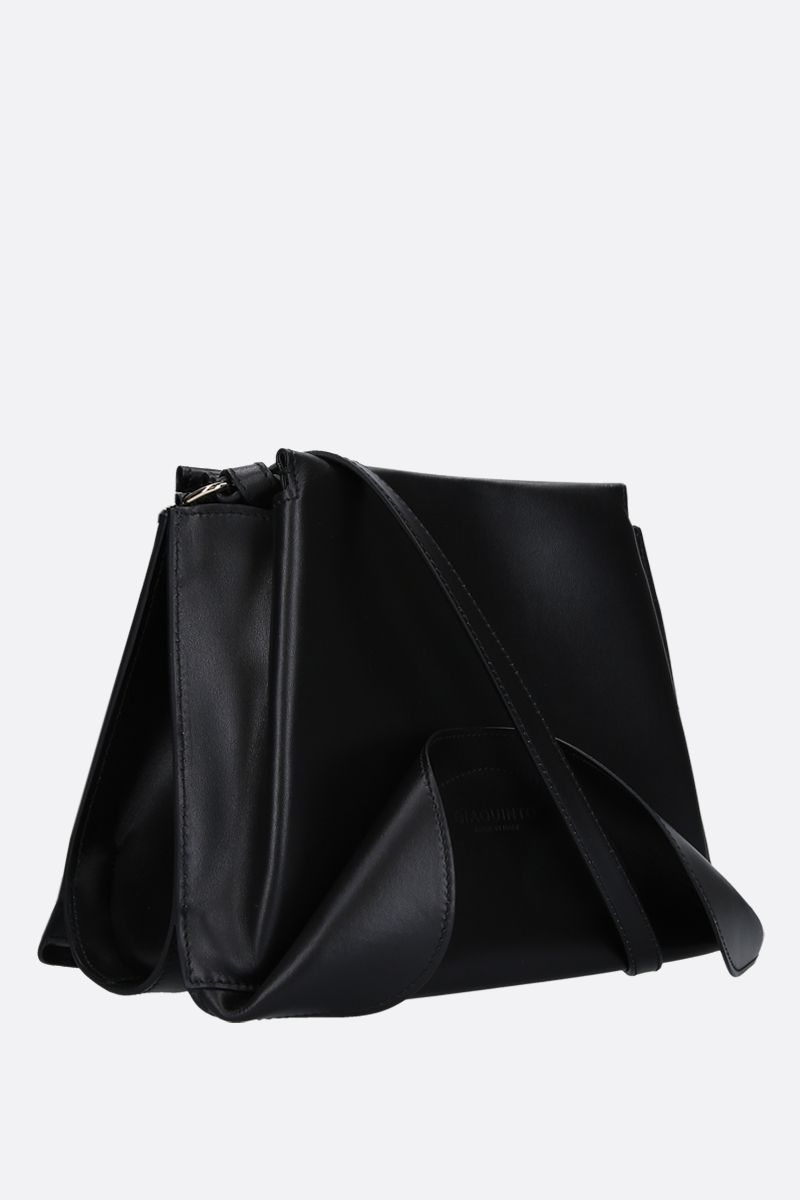 GIAQUINTO BAGS: Ashley crossbody bag in smooth leather Color Black_2