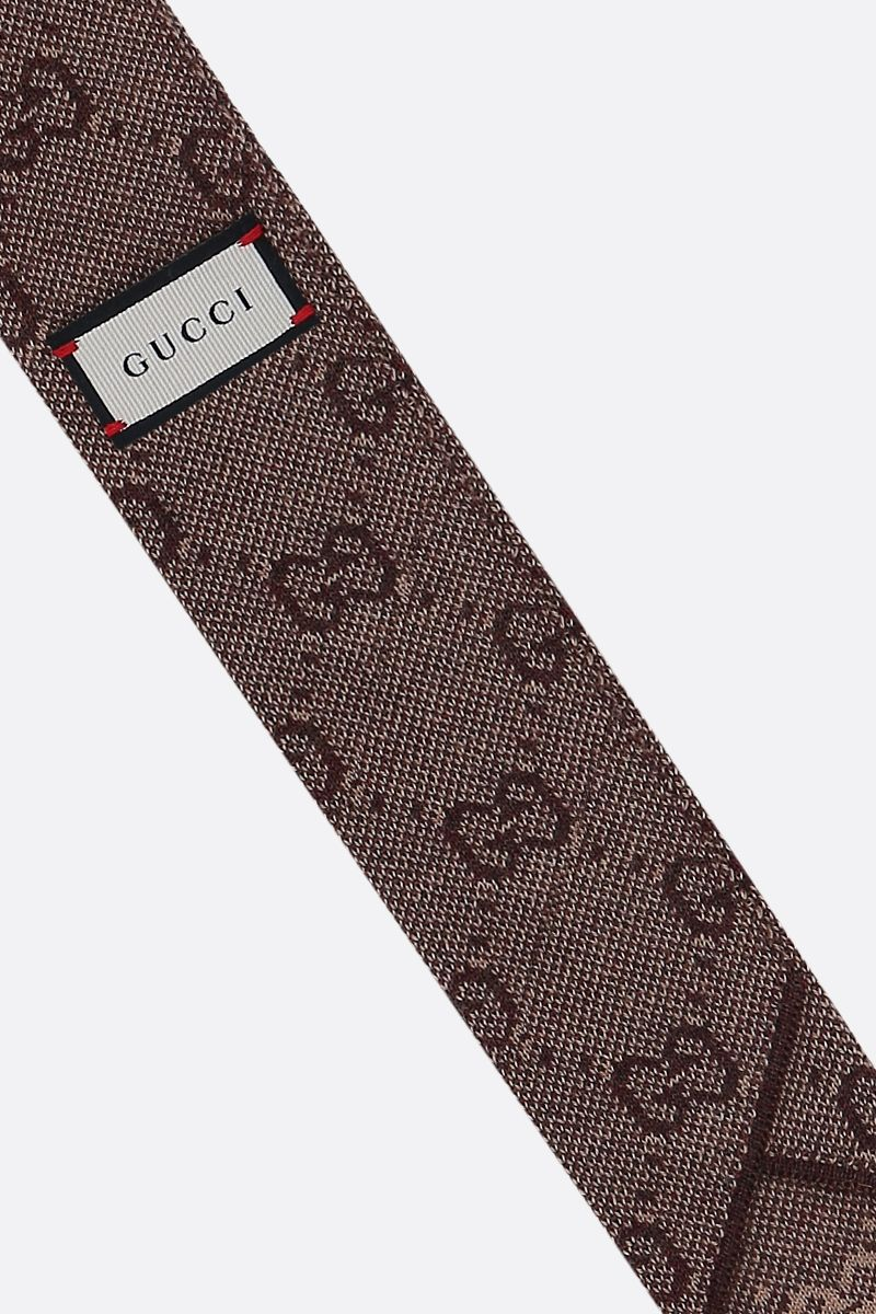 GUCCI: GG wool tie_2