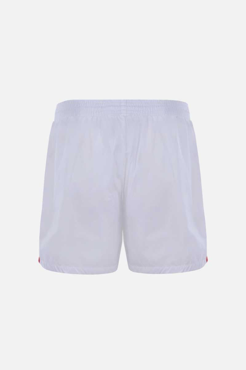 GUCCI: Web-detailed nylon swim shorts Color White_2