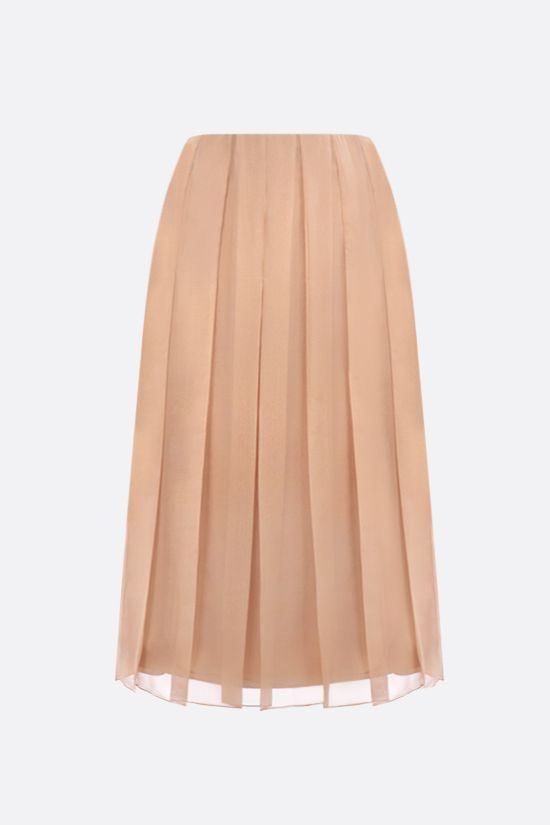 GUCCI: silk chiffon pleated skirt Color Pink_1