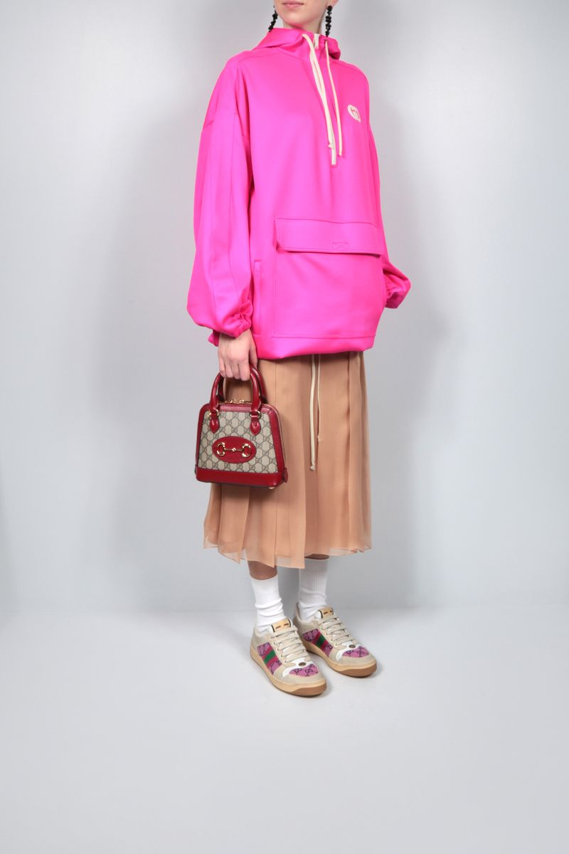 GUCCI: silk chiffon pleated skirt Color Pink_2