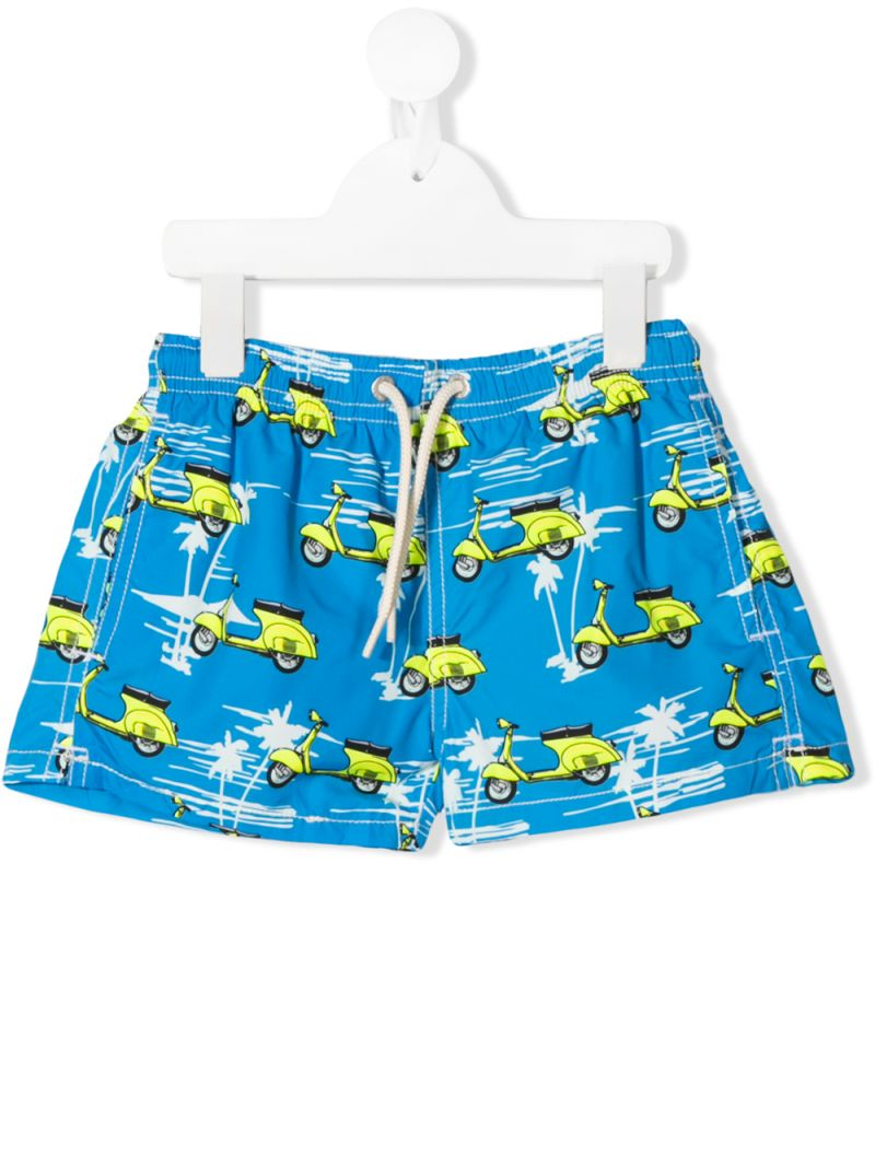 MC2 Saint Barth: PIAGGIO® VESPA print nylon swim shorts Color Multicolor_1