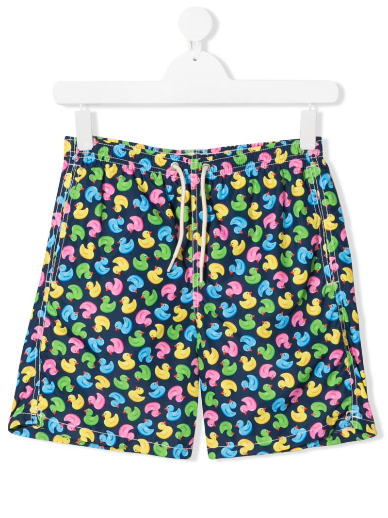 MC2 Saint Barth: ducky print nylon swim shorts_1