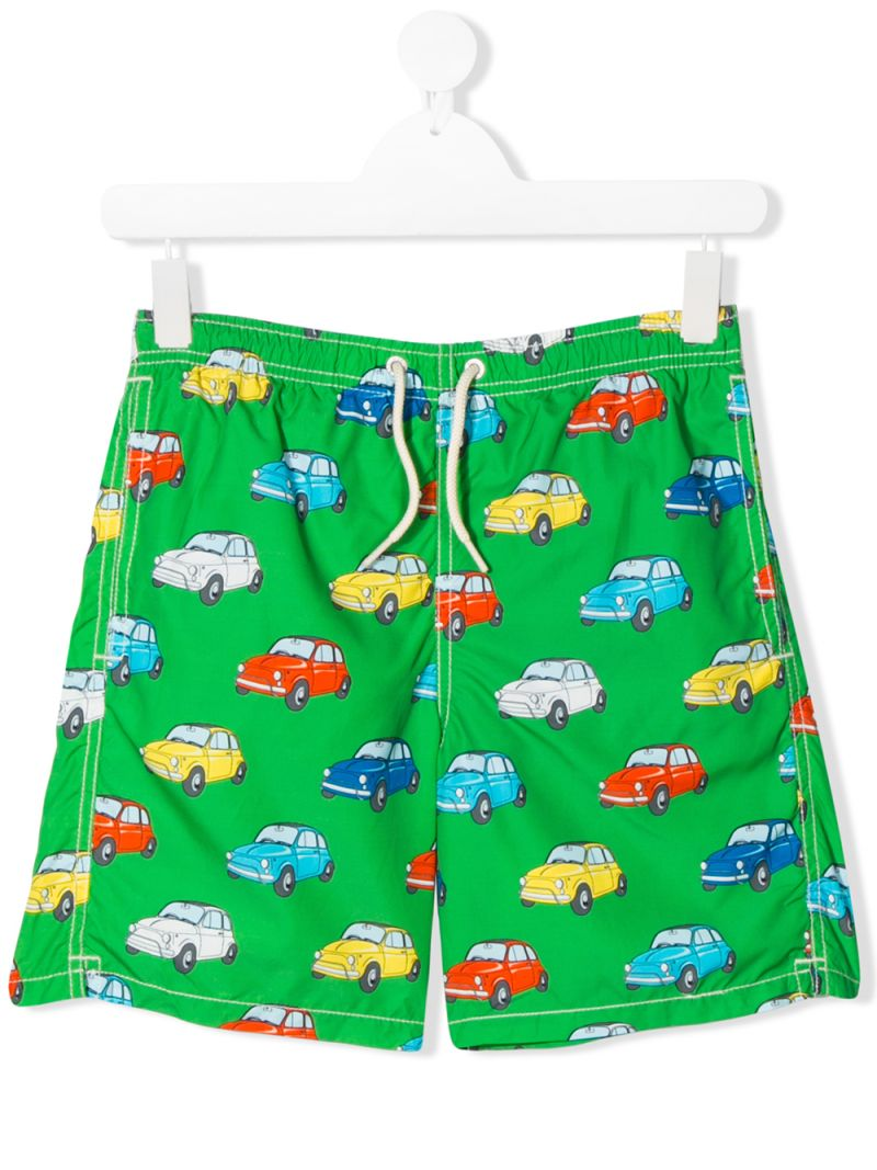 MC2 Saint Barth: cars print nylon swim shorts Color Green_1
