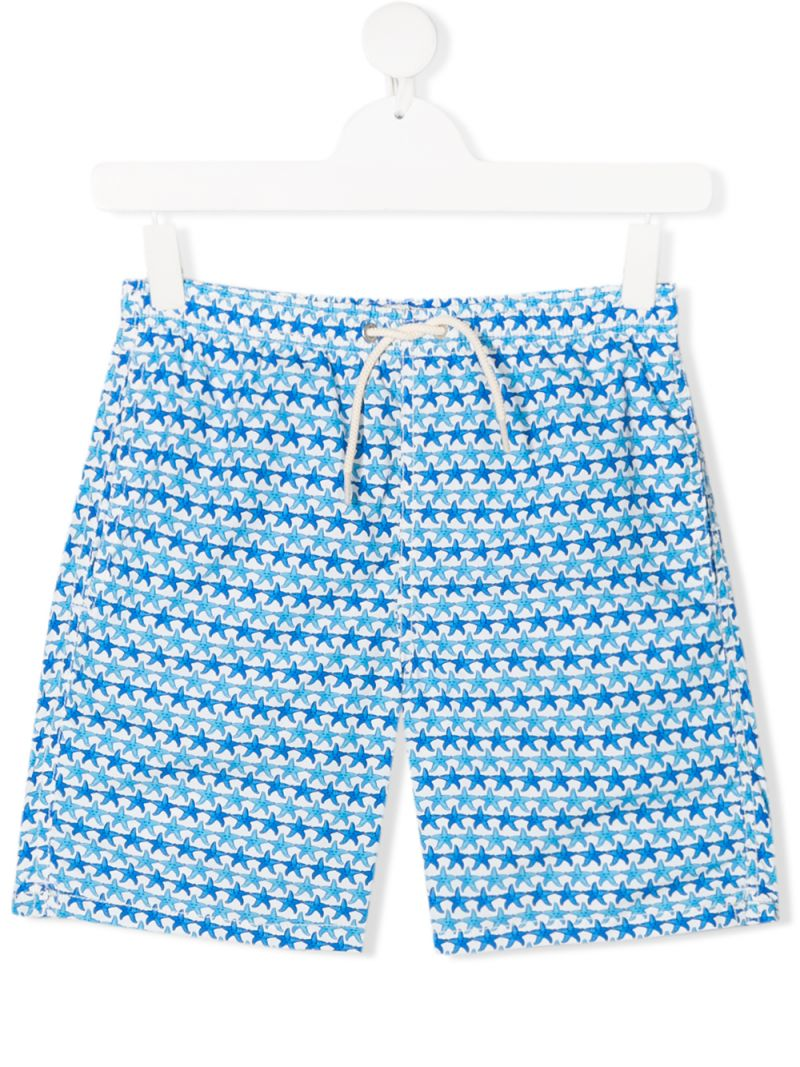 MC2 Saint Barth: seastar print nylon swim shorts Color White_1