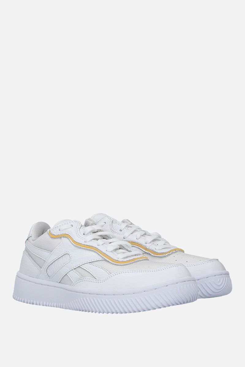 REEBOK X VICTORIA BECKHAM: Dual Court II VB sneakers in leather and technical fabric Color White_2