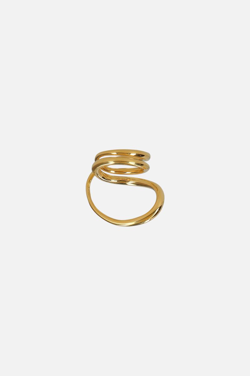 CHARLOTTE CHESNAIS: Round Trip ring in gold vermeil Color Gold_2